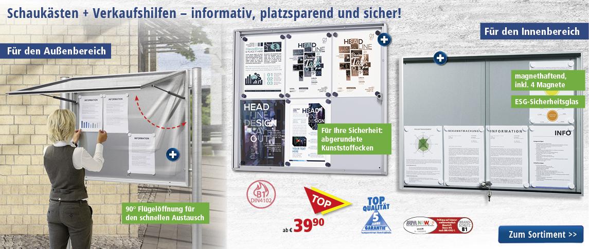 Schaukästen + Verkaufshilfen | bequem online bestellen bei DELTA-V ...