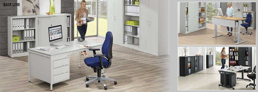 BASE LINE von DELTA-V - Super stabil und universell einsetzbar - Qualitätsstahl für jede Büroeinrichtung, robust und preiswert