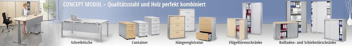 CONCEPT MODUL - Das operative Büromöbelsystem aus Holz und Stahl von DELTA-V