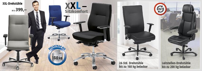 Schwerlaststühle von DELTA-V - XXL-Sitzkomfort