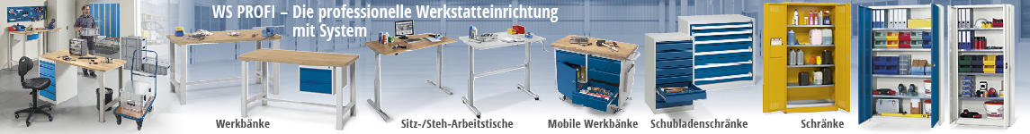 WS PROFI - Die professionelle Werkstatteinrichtung mit System