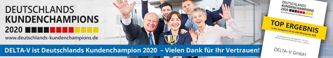 DELTA-V ist Kundenchampion 2020