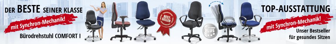 Der Beste seiner Klasse - Der Bürodrehstuhl COMFORT I