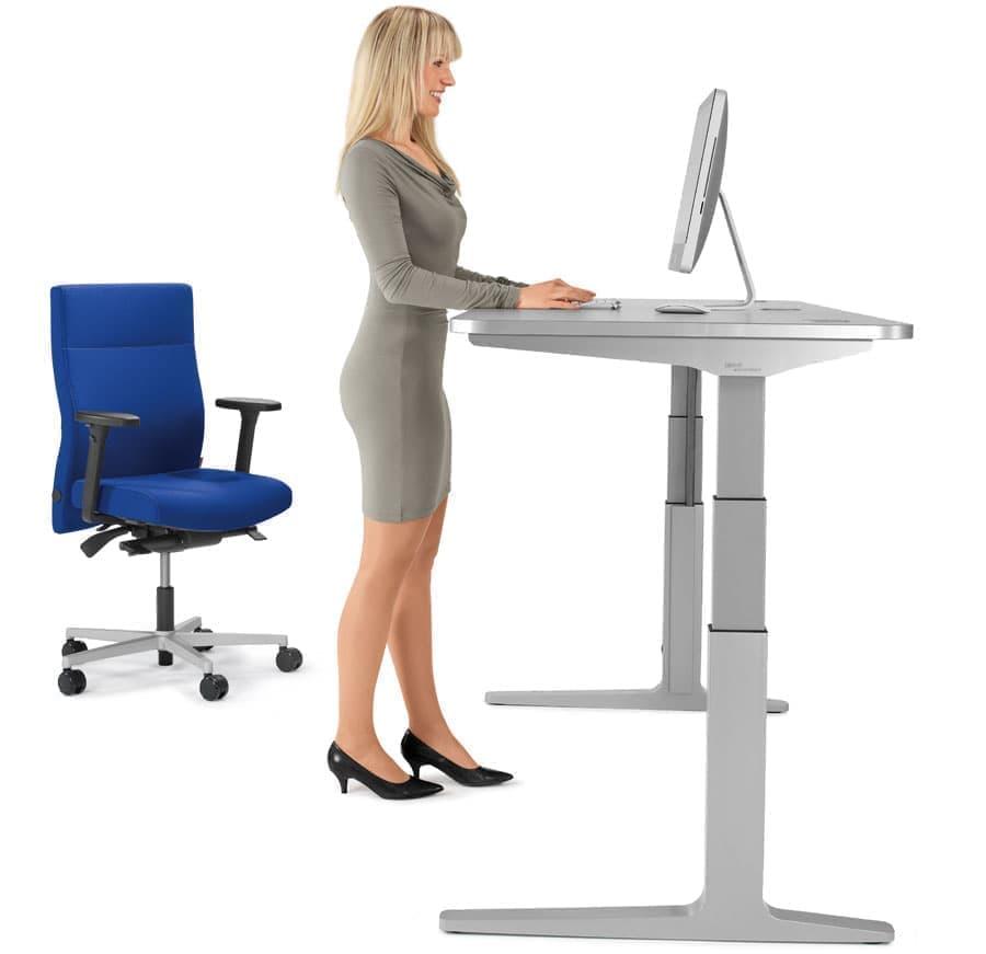 8 ein sitz stehtisch ist die ideale erg nzung zu einem ergonomischen b rodrehstuhl. Black Bedroom Furniture Sets. Home Design Ideas