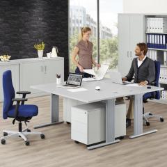 Schreibtische COMFORT M BASE LINE - Höhe 640-840 mm