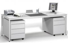 Schreibtische mit Rollcontainer BASE LINE im Super-Spar-SET