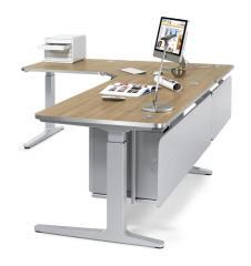 Schritt 2: Schreibtisch-Verkettungsplatten / Ergonomiearbeitsplatz iMODUL selbst gestalten