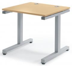 Schreibtisch BASIC 2.0 MULTI MODUL Buchedekor | 800 | Alusilber RAL 9006