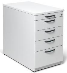 Standcontainer MULTI MODUL Weiß | 1 + 4 Schübe