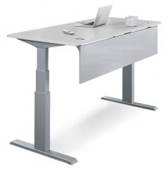 Sitz-/Stehtisch Comfort PROFI MODUL Lichtgrau | 1200 | Alusilber RAL 9006