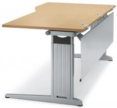 Schreibtisch Freiform C-Fuß PROFI MODUL Buchedekor | 1800 | Freiform rechtsseitig