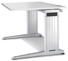 Schreibtisch C-Fuß PROFI MODUL Lichtgrau | 800