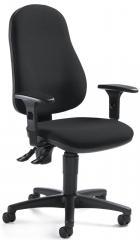 Bürodrehstuhl BASE ART 70 inkl. Armlehnen Schwarz | verstellbare Armlehnen