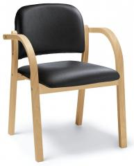 Stapel-Holzstuhl CLAHO inkl. Armlehnen