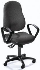 Bürodrehstuhl COMFORT I inkl. Armlehnen Anthrazit | Polyamid schwarz