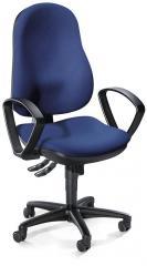 Bürodrehstuhl COMFORT I mit Armlehnen Blau   feste Armlehnen   Polyamid schwarz