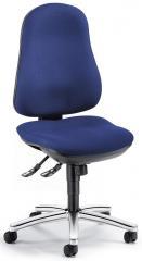 Bürodrehstuhl COMFORT I ohne Armlehnen Blau | Verchromt