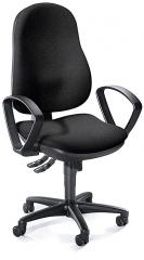 Bürodrehstuhl COMFORT I mit Armlehnen Schwarz | feste Armlehnen | Polyamid schwarz
