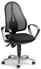 Bürodrehstuhl COMFORT NET inkl. Armlehnen Schwarz | Permanentkontaktmechanik | Verchromt
