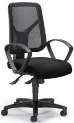 Bürodrehstuhl COMFORT R NET mit Armlehnen Schwarz/Schwarz | feste Armlehnen