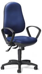 Bürodrehstuhl COMFORT S mit Armlehnen Blau | feste Armlehnen
