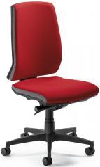 Bürodrehstuhl CONTO ohne Armlehnen, Fußkreuz schwarz