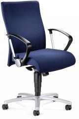 Bürodrehstuhl DV 30 inkl. Armlehnen Dunkelblau | feste Armlehnen | Alusilber | Nein
