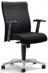 Bürodrehstuhl DV 30 mit Armlehnen Schwarz | Alusilber | verstellbare Armlehnen