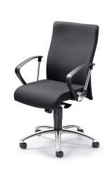 Bürodrehstuhl DV 30 inkl. Armlehnen Schwarz | feste Armlehnen | Verchromt | Nein