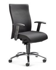 Bürodrehstuhl DV 35 inkl. Armlehnen Schwarz | Verchromt