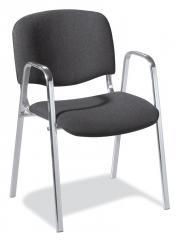 Besucherstuhl ISO mit Armlehnen - Gestell verchromt