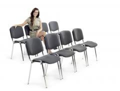 12 Besucherstühle ISO im SET - Stoff Basic C