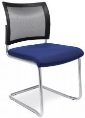 Besucherschwinger LAS VEGAS mit Netzrücken Blau | Stoffsitz mit Netzrücken