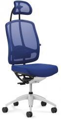 Bürodrehstuhl MATTEGO mit Armlehnen Blau/Blau | verstellbare Armlehnen | Alusilber | Ja