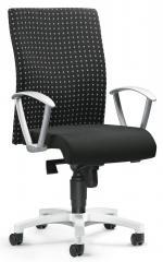 Bürodrehstuhl PROFI ART mit Armlehnen Schwarz Karo Grau | feste Armlehnen