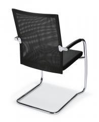Besucher- und Konferenzstuhl RIVA S inkl. Armlehnen Schwarz   Stoffsitz mit Netzrücken