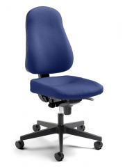 Bürodrehstuhl SINAMO ohne Armlehnen, Fußkreuz schwarz
