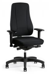 Bürodrehstuhl UNIQUE ohne Armlehnen Schwarz | Polyamid schwarz