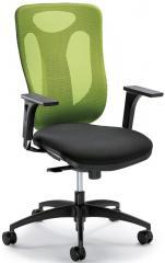 Bürodrehstuhl VENTURA ohne Armlehnen Grün/Schwarz