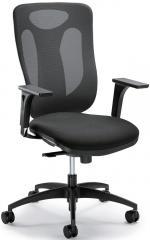 Bürodrehstuhl VENTURA ohne Armlehnen Schwarz/Schwarz