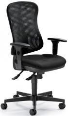 Bürodrehstuhl WAVE ohne Armlehnen Schwarz