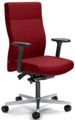 Bürodrehstuhl winSIT ohne Arml. Fuß alusilber, Gegenkrafteinstellung