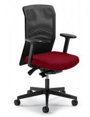 Bürodrehstuhl winSIT ohne Arml. Fuß schwarz, Synchronmechanik