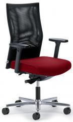 Bürodrehstuhl winSIT ohne Arml. Fuß poliert, Synchronmechanik