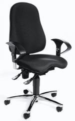 Bürodrehstuhl SITNESS 40 mit Armlehnen Schwarz