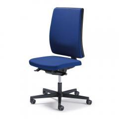 Bürodrehstuhl ecoSIT ohne Armlehnen, mit Polsterrücken