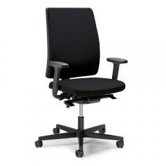 Bürodrehstuhl ecoSIT ohne Armlehnen Schwarz | mit Polsterrücken