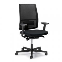 Bürodrehstuhl ecoSIT ohne Armlehnen Schwarz/Schwarz | mit Netzrücken