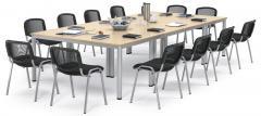 SET-Angebot - 4 Tische BASE MODUL Q + 12 Stühle ISO