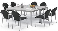 SET-Angebot - 2 Tische BASE MODUL Q + 8 Stühle PIENO